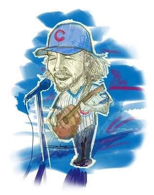 Pearl Jam Drawing - All The Way by Doug  Miller II