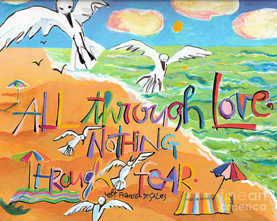 Painting - All Through Love - Mmatl by Br Mickey McGrath OSFS