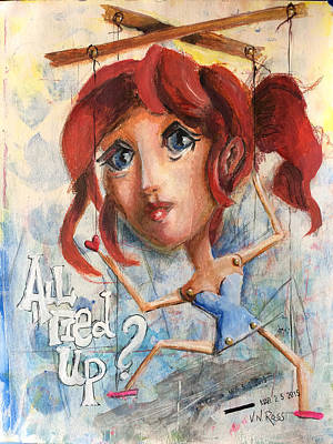 Painting - All Tied Up by Vicki Ross