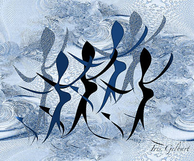 Digital Art - All Together Now.... by Iris Gelbart