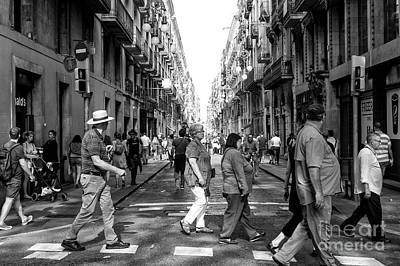 Photograph - All Together Now In Barcelona by John Rizzuto