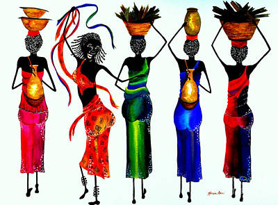 Jamaican Woman Painting - All Work And No Play by Karen Ann