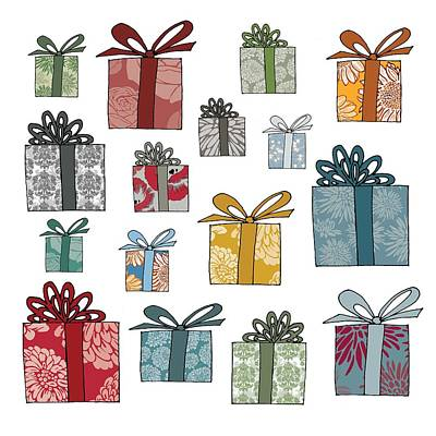 Holiday Drawing - All Wrapped Up by Sarah Hough
