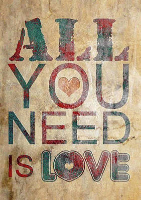 Painting - All You Need Is Love T-shirt by Herb Strobino