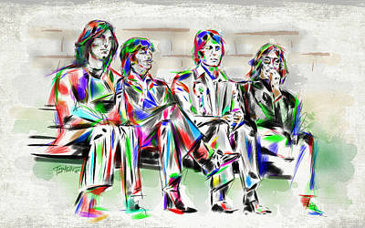 The Beatles Art Drawing - All You Need Is Love... by Mark Tonelli