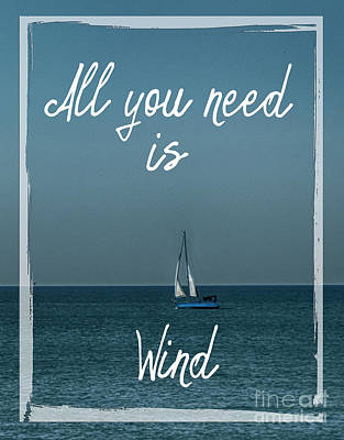 Photograph - All You Need Is Wind by Judy Hall-Folde