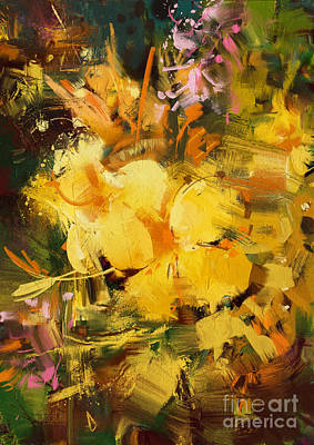 Painting - Allamanda by Tithi Luadthong