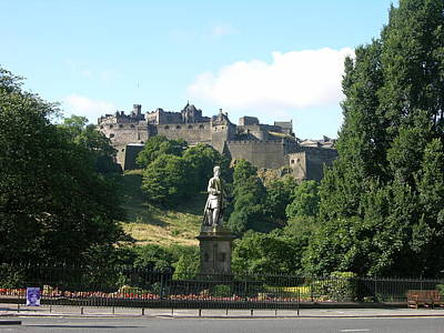 Photograph - Allan Ramsay Statue And Edinburgh Castle by Keith Stokes