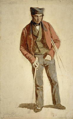 Masters Winners Painting - Allan Robertson, Fl. 1847. Golf Ball Maker by Charles Lees