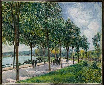 Chestnut Painting - Alle Of Chestnut Trees Alfred Sisley 2 by Celestial Images