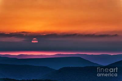 Photograph - Allegheny Ridges At Sunrise by Thomas R Fletcher