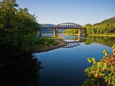 Photograph - Allegheny River Train Bridge by Linda Unger
