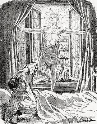 Allegorical Illustration Depicting The Art Print by Vintage Design Pics