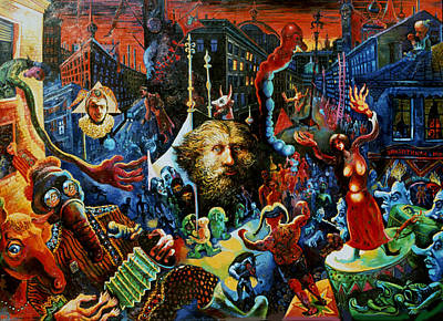 Roussimoff Wall Art - Painting - Allegory by Ari Roussimoff