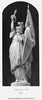 Allegory: Columbia, 1870 Art Print by Granger