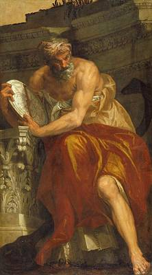 Paolo Caliari Veronese Painting - Allegory Of Navigation With An Astrolabe Ptolemy by MotionAge Designs