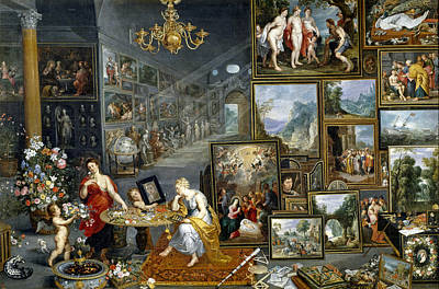 Photograph - Allegory Of Sight And Smell by Jan Bruegel the Elder