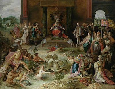Brussels Painting - Allegory Of The Abdication Of Emperor Charles V In Brussels by Mountain Dreams