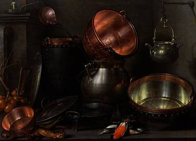 Interior Still Life Painting - Allegory Of The Four Elements by Cornelis Jacobsz Delff