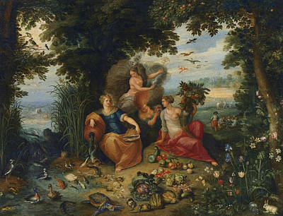 Painting - Allegory Of The Four Elements by Frans Francken the Younger