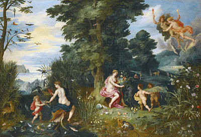 Painting - Allegory Of The Four Elements by Hendrick van Balen