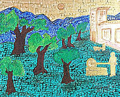 Painting - Allegory Of The Olive Trees by Richard W Linford