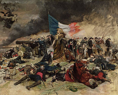Horrors Of War Painting - Allegory Of The Siege Of Paris by Jean Louis Ernest Meissonier
