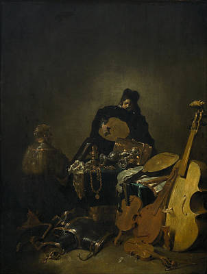 Dutch Master Painting - Allegory Of Vanity by Leonaert Bramer
