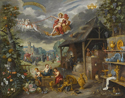 Painting - Allegory Of War And Peace by Jan Brueghel the Younger