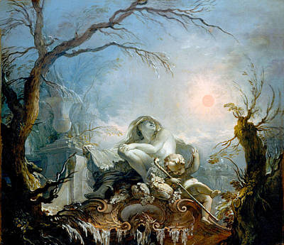 Photograph - Allegory Of Winter by Jacques de la Joue the Younger
