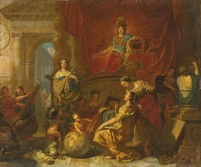 Painting - Allegory Of Wisdom Fostering The Arts And Sciences by Gerard de Lairesse