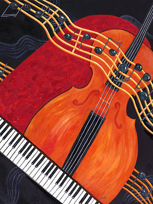Art Print featuring the painting Allegro by Karen Zuk Rosenblatt