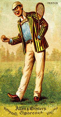 Painting - Allen And Ginter Victorian Tennis Cigarette Card by Peter Gumaer Ogden