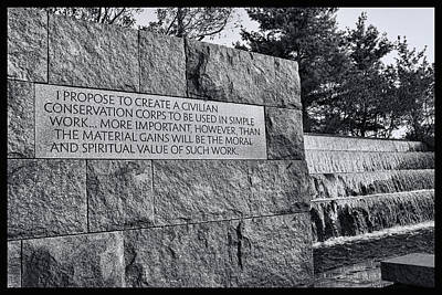 Photograph - Franklin Delano Roosevelt Memorial # 3 by Allen Beatty