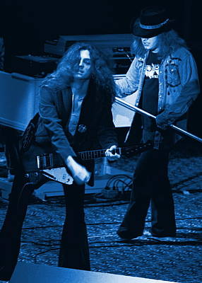 Allen Collins And Ronnie Van Zant Same Old Winterland Blues Art Print by Ben Upham
