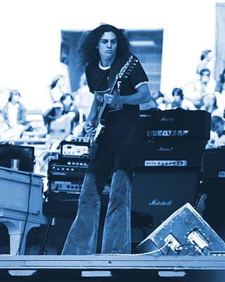 Allen Collins In Blue Oakland 1975 Art Print