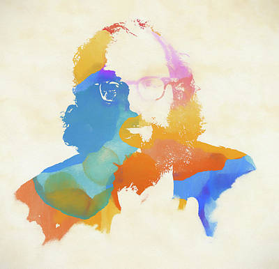Painting - Allen Ginsberg by Dan Sproul