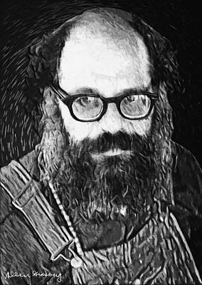 Counterculture Digital Art - Allen Ginsberg by Taylan Apukovska