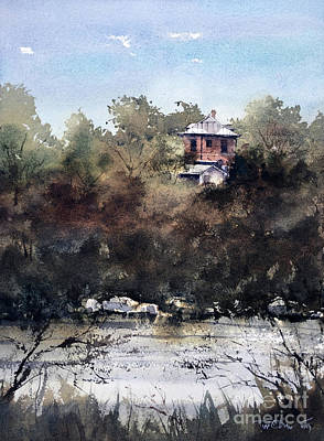 Painting - Allen St Mansion Over The Concho by Tim Oliver