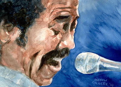 Painting - Allen Toussaint by Andrew Gillette