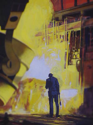 Painting - Allen Town by Vivien Rhyan