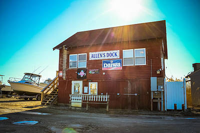Photograph - Allen's Dock - Bait And Tackle Store by Colleen Kammerer