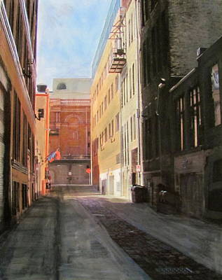 Mixed Media - Alley - Front Street by Anita Burgermeister