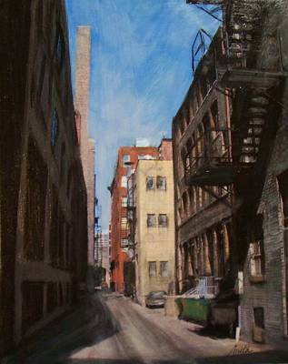 Mixed Media - Alley 3rd Ward by Anita Burgermeister