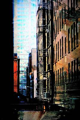 Digital Art - Alley Abstract #2 by Anita Burgermeister