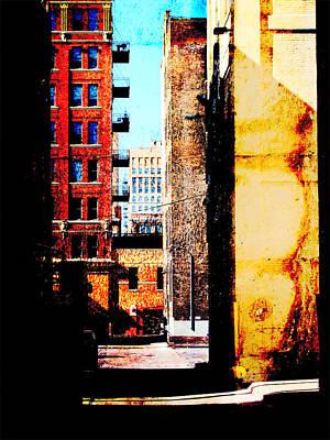 Digital Art - Alley Abstract by Anita Burgermeister