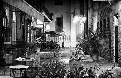 Alley Dining Art Print by John Rizzuto