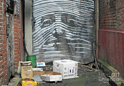 Photograph - Alley Face by Ethna Gillespie