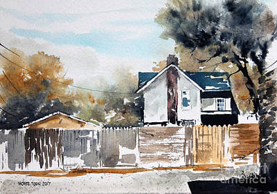 Painting - Alley Fences by Monte Toon