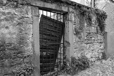 Photograph - Alley Gate B W by Teresa Mucha
